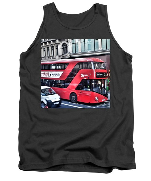 Red Bus In London  Tank Top
