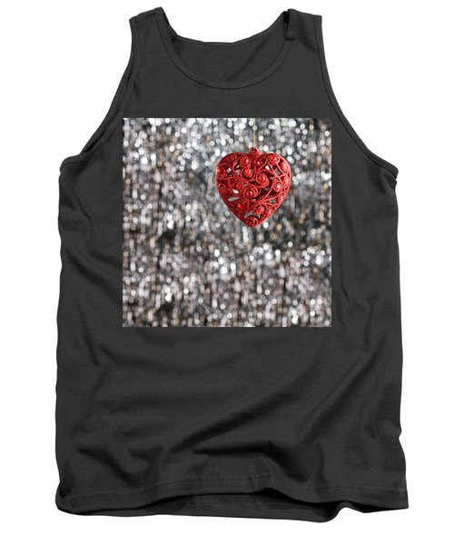 Tank Top featuring the photograph Red Heart by Ulrich Schade