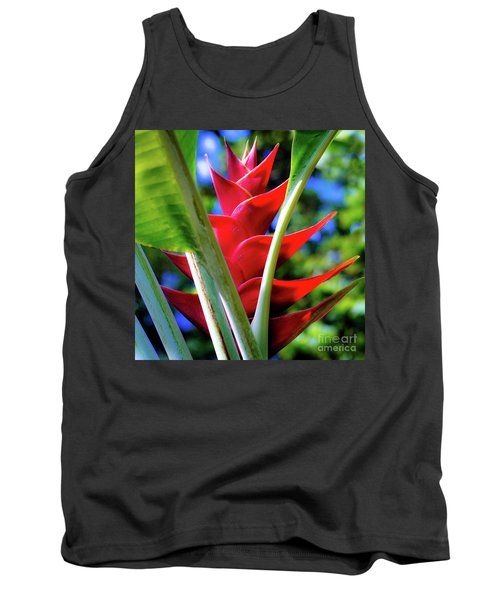 Red Heliconia Hawaii Tank Top