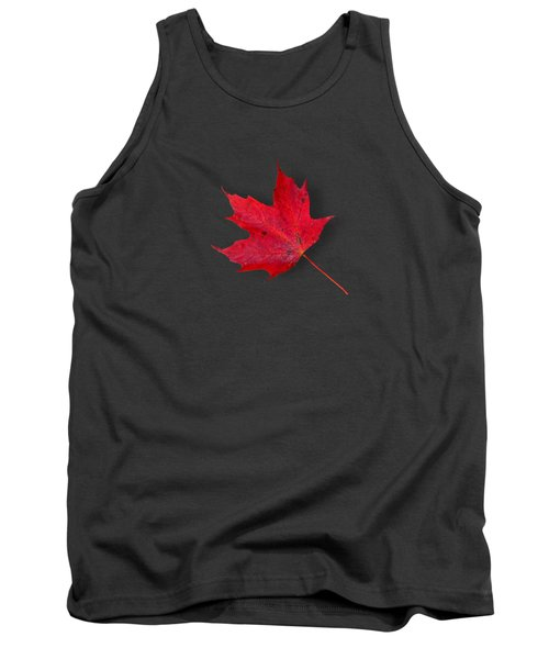 Red Maple Leaf Tank Top