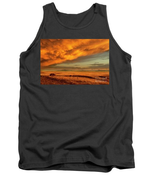 Red Rock Coulee Sunset 1 Tank Top