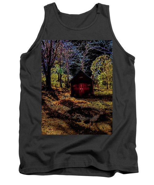 Tank Top featuring the photograph Red Shed by Randy Sylvia