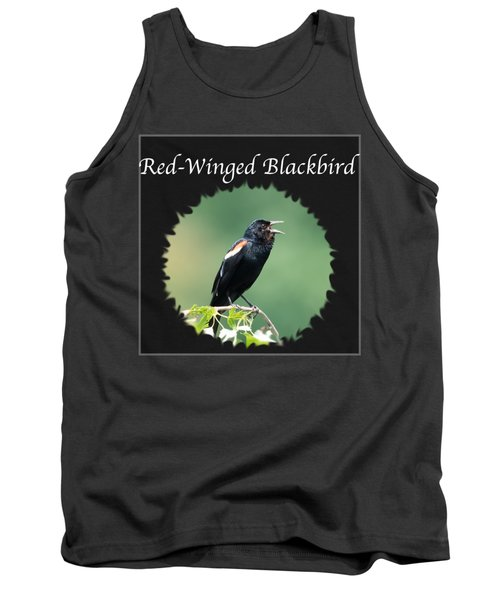 Red-winged Blackbird Tank Top by Jan M Holden