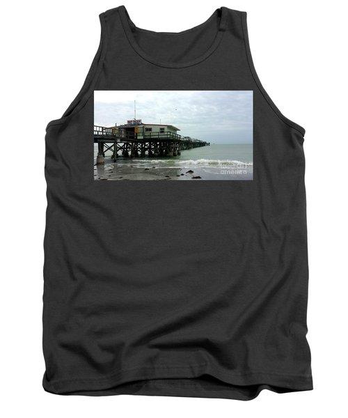 Redington Beach, Florida Fishing Pier Tank Top by Scott D Van Osdol