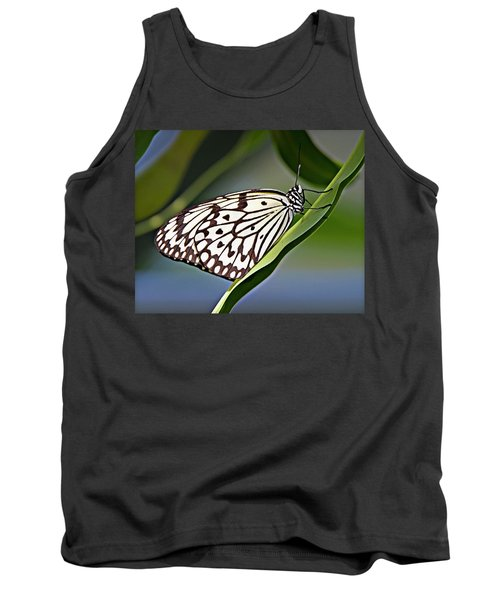 Rice Paper Butterfly 8 Tank Top