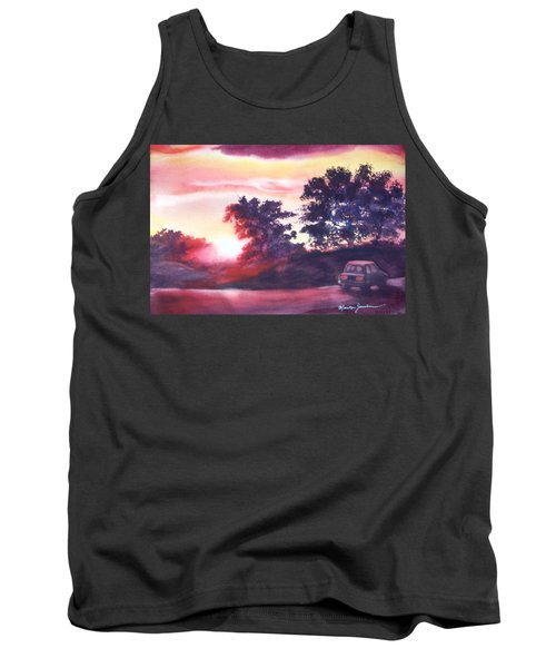 Road To Fargo Tank Top by Marilyn Jacobson
