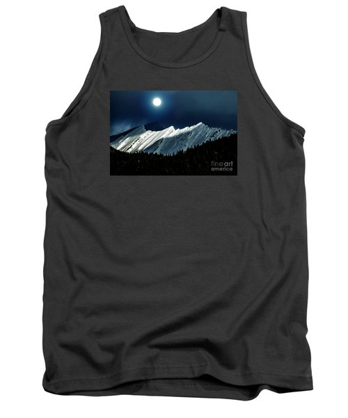 Rocky Mountain Glory In Moonlight Tank Top by Elaine Hunter