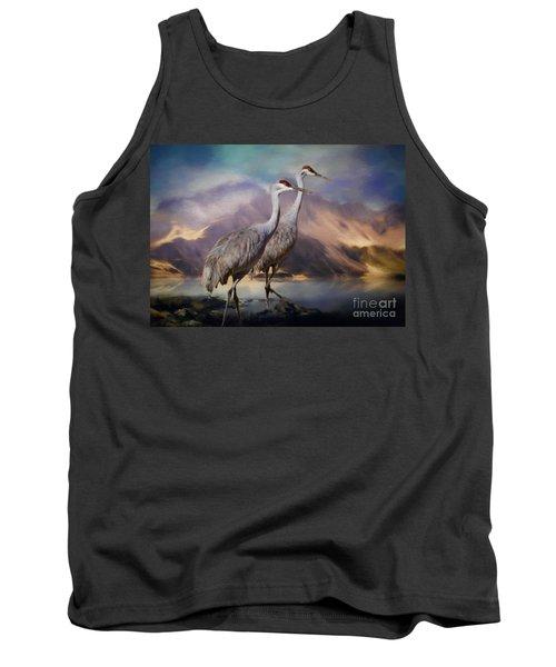 Rocky Mountain Sandhill Cranes Tank Top