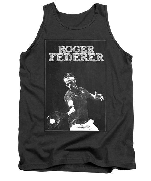 Roger Federer Tank Top by Semih Yurdabak