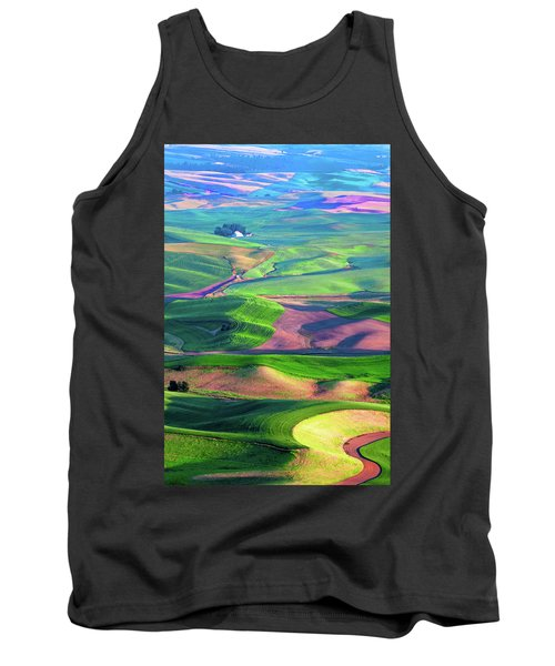 Green Hills Of The Palouse Tank Top by James Hammond