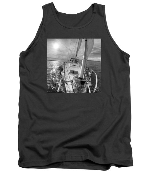 Sailing Yacht Fate Beneteau 49 Black And White Tank Top