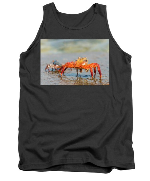 Tank Top featuring the photograph Sally Lightfoot Crab On Galapagos Islands by Marek Poplawski