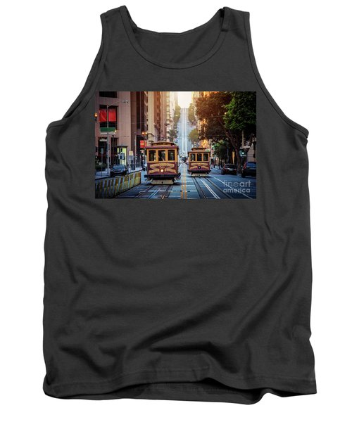 San Francisco Cable Cars Tank Top by JR Photography