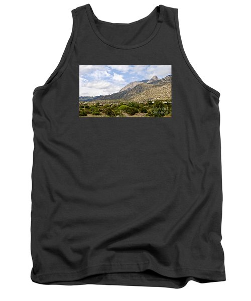 Tank Top featuring the photograph Sandia Mountains by Gina Savage