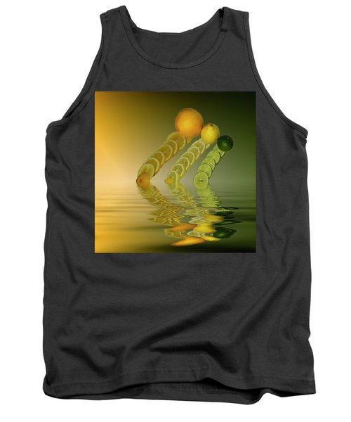 Tank Top featuring the photograph Slices  Grapefruit Lemon Lime Citrus Fruit by David French