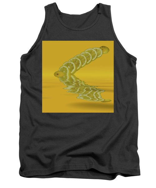 Tank Top featuring the photograph Slices Lemon Citrus Fruit by David French