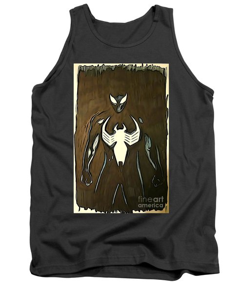 Tank Top featuring the digital art Spider-man Back In Black by Justin Moore