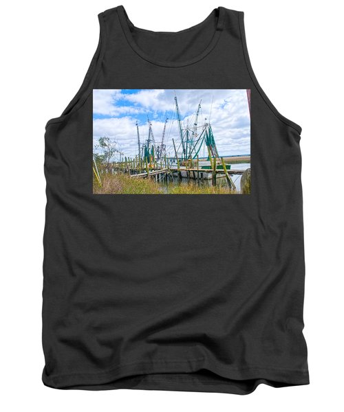 St. Helena Shrimp Boats  Tank Top