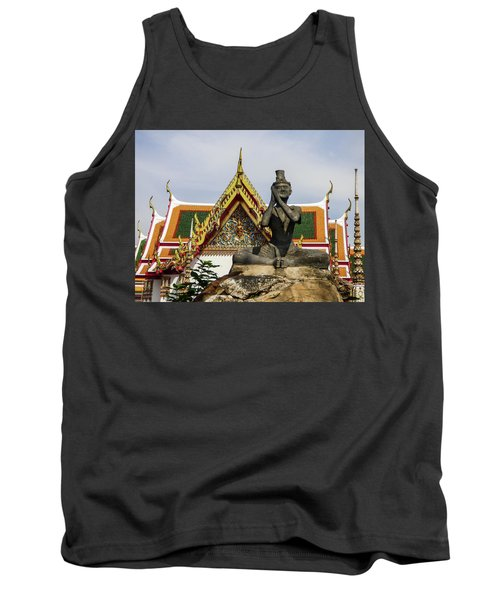 Statue At Famous Wat Pho Temple Tank Top
