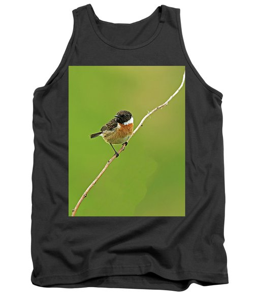 Tank Top featuring the photograph Stonechat by Paul Scoullar