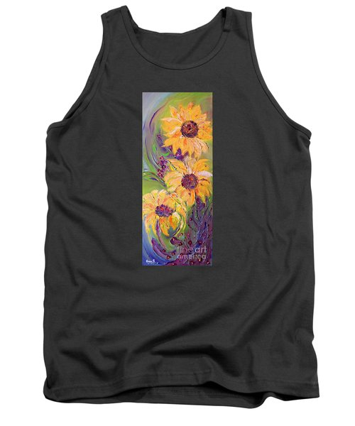 Sunflowers Tank Top by AmaS Art