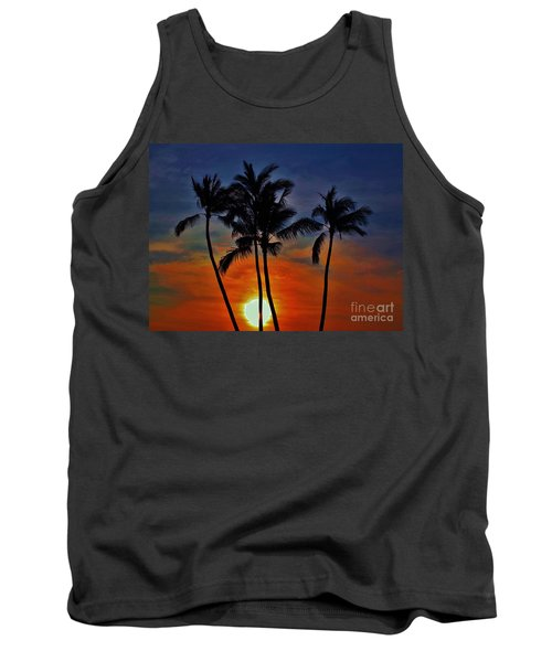 Sunlit Palms Tank Top by Craig Wood