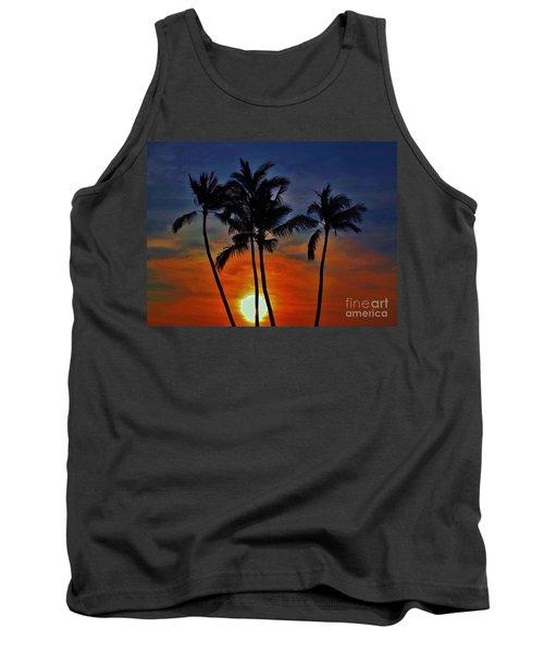 Sunlit Palms Tank Top