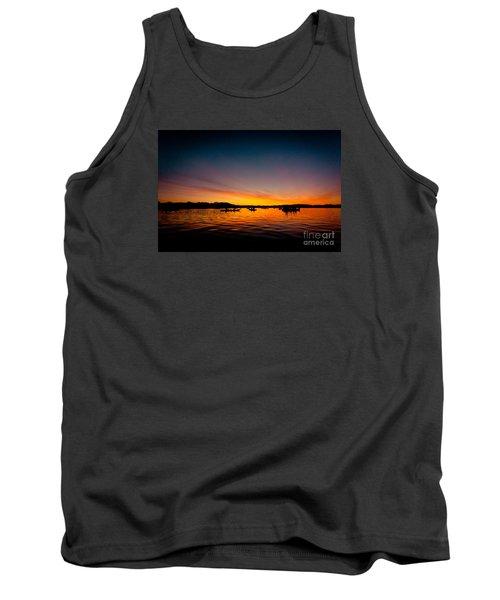 Sunrise Above Lake Water Summer Time Tank Top