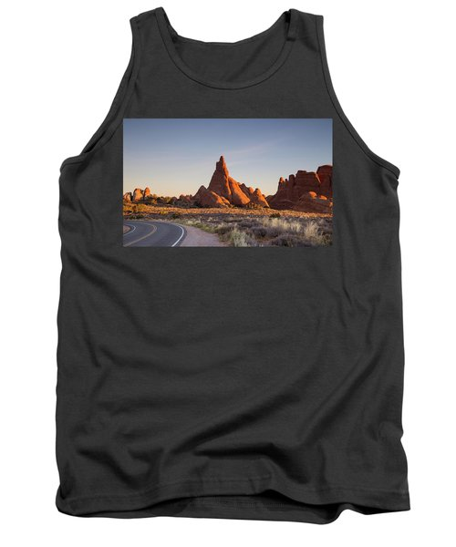 Sunrise In Arches National Park Tank Top