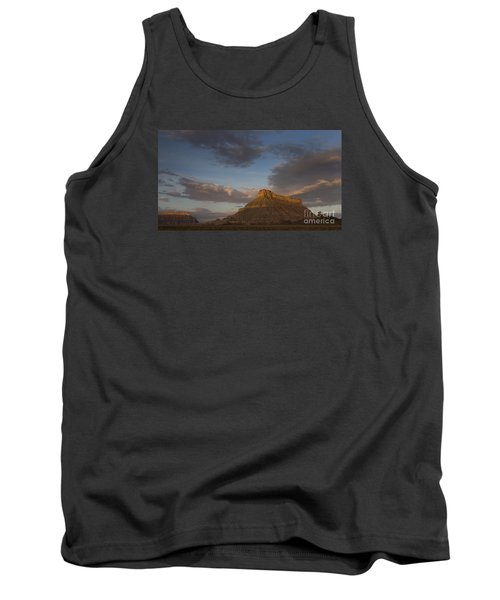 Tank Top featuring the photograph Sunrise Over Factory Butte by Keith Kapple