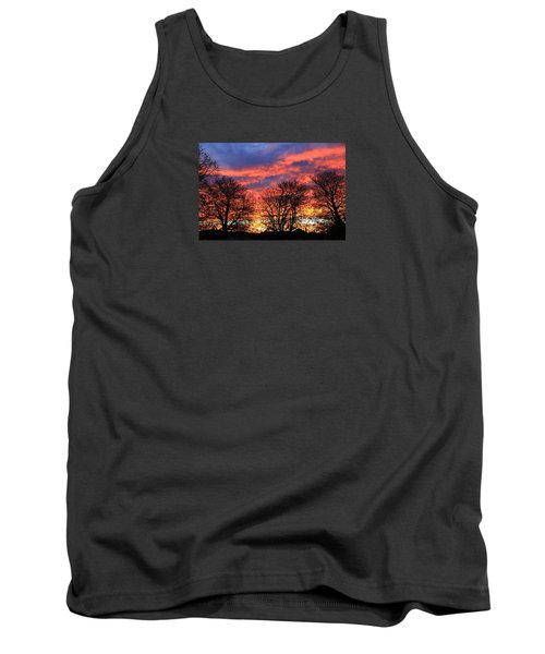 Tank Top featuring the photograph Sunset And Filigree by Nareeta Martin