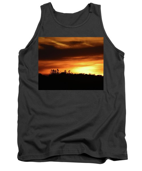 Sunset Behind The Clouds  Tank Top by Lyle Crump