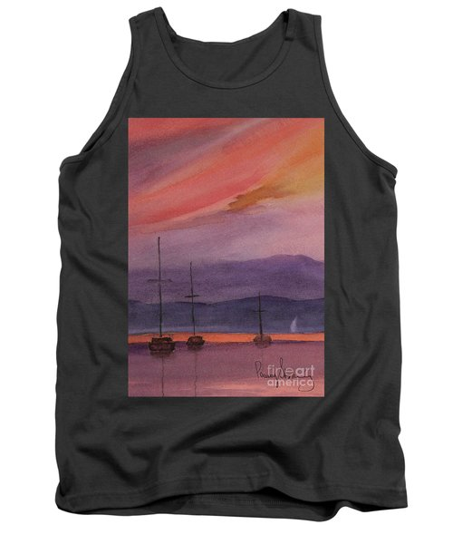 Sunset On Madeline Island Tank Top