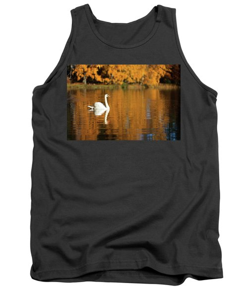 Swan On A Lake Tank Top
