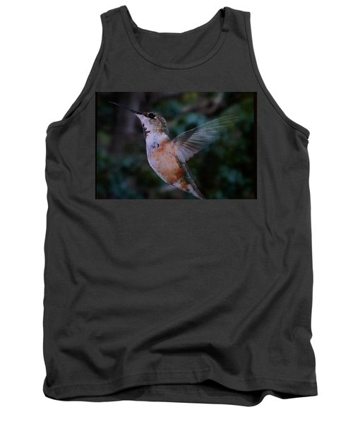 Tan Hummingbird Tank Top