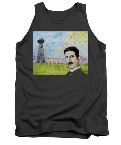 Tesla's Tower. Tank Top by Ken Zabel