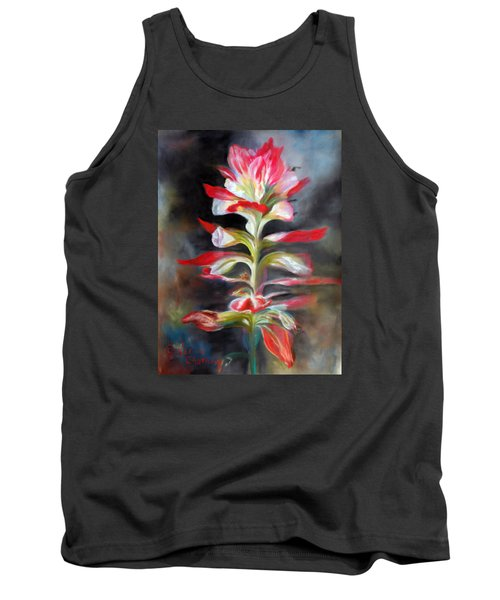 Tank Top featuring the pastel Texas Indian Paintbrush by Karen Kennedy Chatham