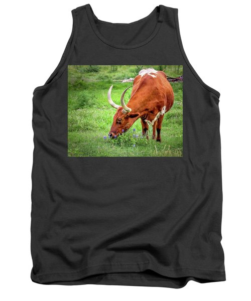 Texas Longhorn Grazing Tank Top