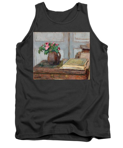 The Artist's Paint Box And Moss Roses Tank Top