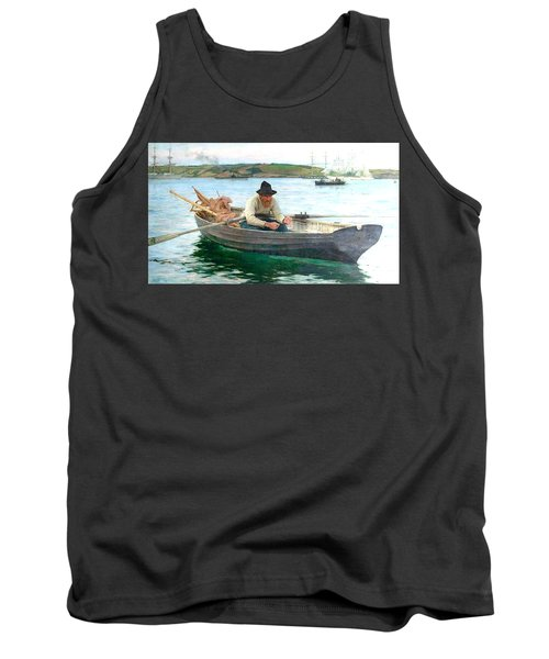 Tank Top featuring the painting The Fisherman by Henry Scott Tuke