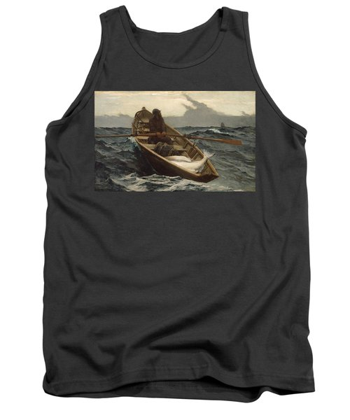 Tank Top featuring the painting The Fog Warning - 1885 by Winslow Homer