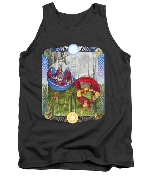 The Holly King And The Oak King Tank Top by Melissa A Benson