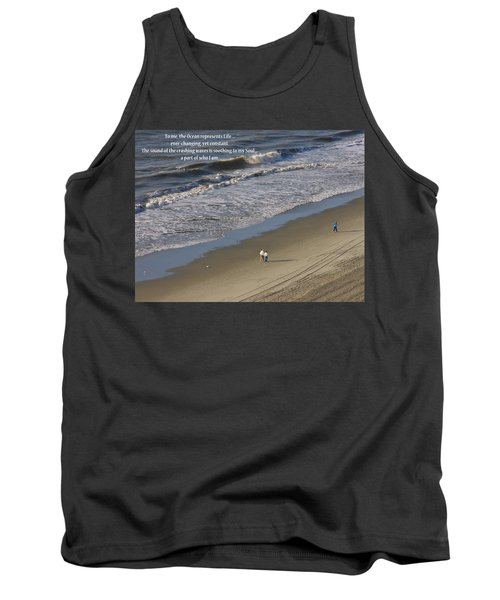 Tank Top featuring the photograph The Ocean by Rhonda McDougall