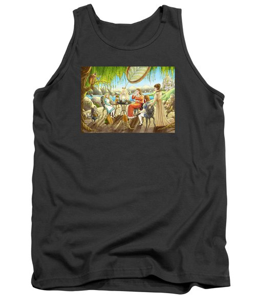 The Palace Garden Tea Party Tank Top by Reynold Jay