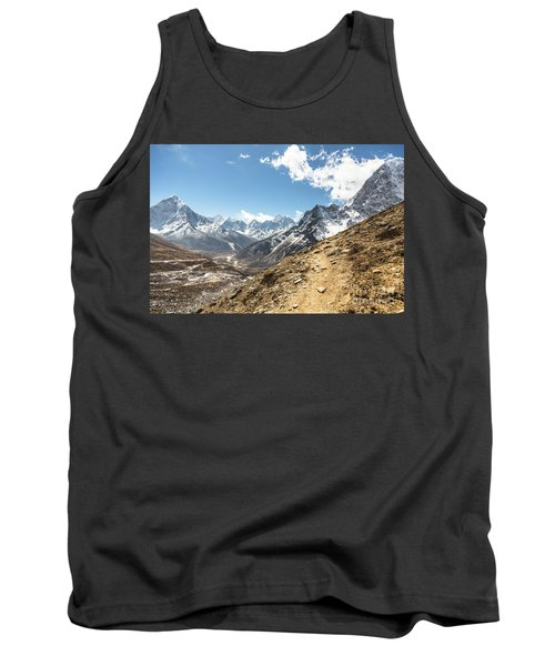 The Path To Cho La Pass In Nepal Tank Top