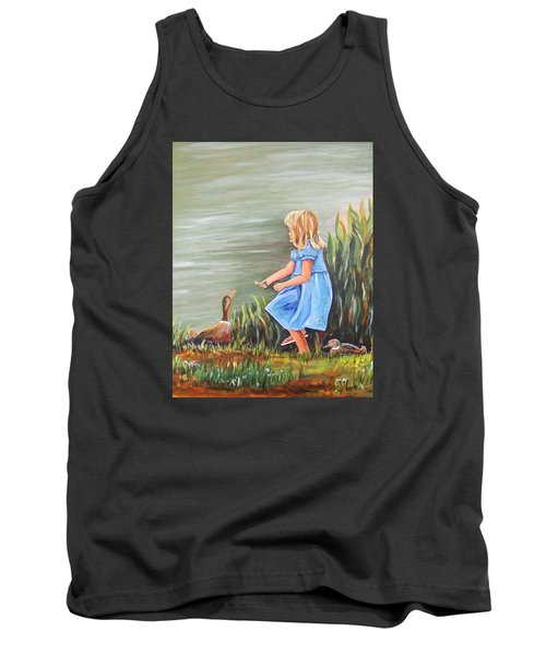 Tank Top featuring the painting Tori And Her Ducks by Patricia Piffath