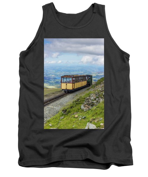 Tank Top featuring the photograph Train To Snowdon by Ian Mitchell