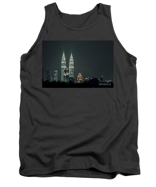 Tank Top featuring the photograph Twin Towers by Charuhas Images