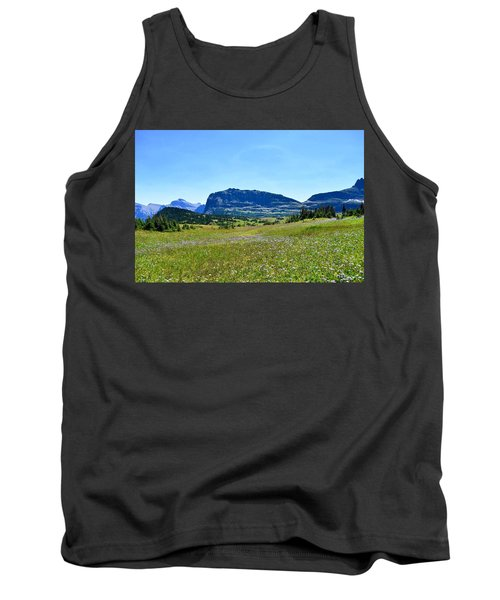 Tank Top featuring the photograph View From Logans Pass by Dacia Doroff