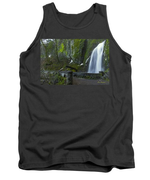 Wahkeena Falls Bridge Signed Tank Top